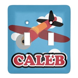Airplane Light Switch Cover (2 Toggle Plate) (Personalized)