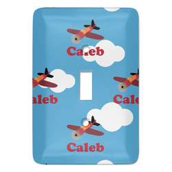 Airplane Light Switch Covers - Multiple Toggle Options Available (Personalized)