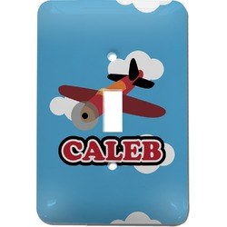 Airplane Light Switch Cover (Single Toggle) (Personalized)