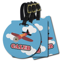Airplane Plastic Luggage Tags (Personalized)