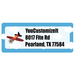 Airplane Return Address Labels (Personalized)