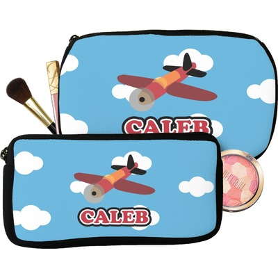 Airplane Makeup / Cosmetic Bag (Personalized)