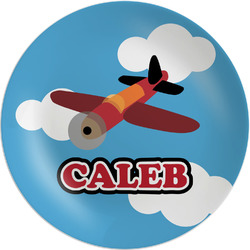 Airplane Melamine Plate (Personalized)