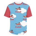 Airplane Men's Crew T-Shirt (Personalized)