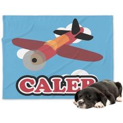 Airplane Minky Dog Blanket - Large  (Personalized)
