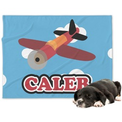 Airplane Minky Dog Blanket (Personalized)