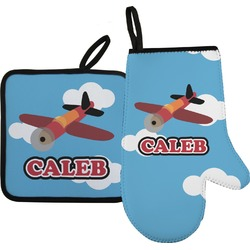 Airplane Oven Mitt & Pot Holder (Personalized)