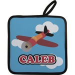 Airplane Pot Holder w/ Name or Text