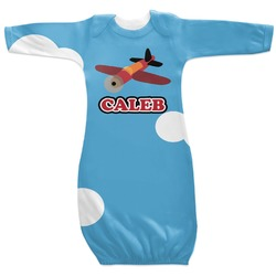 Airplane Newborn Gown (Personalized)