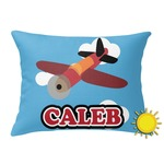 Airplane Outdoor Throw Pillow (Rectangular) (Personalized)
