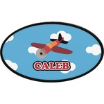 Airplane Oval Trailer Hitch Cover (Personalized)