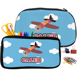 Airplane Pencil / School Supplies Bag (Personalized)
