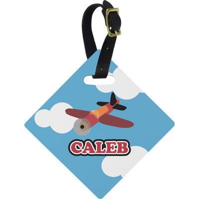 Airplane Diamond Luggage Tag (Personalized)