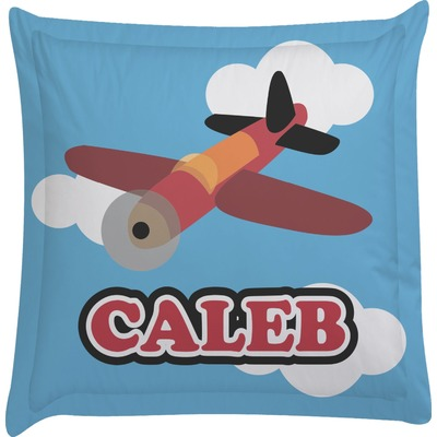 Airplane Euro Sham Pillow Case (Personalized)