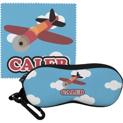 Airplane Eyeglass Case & Cloth (Personalized)