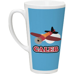 Airplane 16 Oz Latte Mug (Personalized)