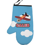 Airplane Left Oven Mitt (Personalized)