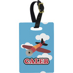 Airplane Rectangular Luggage Tag (Personalized)