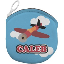 Airplane Round Coin Purse (Personalized)