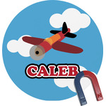 Airplane Round Magnet (Personalized)