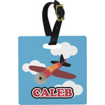 Airplane Square Luggage Tag (Personalized)