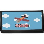 Airplane Canvas Checkbook Cover (Personalized)
