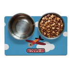 Airplane Dog Food Mat (Personalized)
