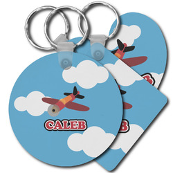 Airplane Plastic Keychains (Personalized)