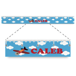 """Airplane Plastic Ruler - 12"""" (Personalized)"""