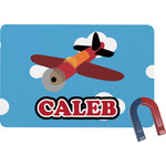 Airplane Rectangular Fridge Magnet (Personalized)