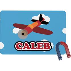 Airplane Rectangular Fridge Magnet (Personalized)