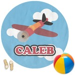 Airplane Round Beach Towel (Personalized)