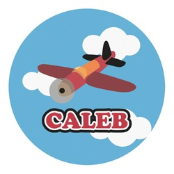 Airplane Round Decal - Custom Size (Personalized)