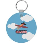 Airplane Round Keychain (Personalized)