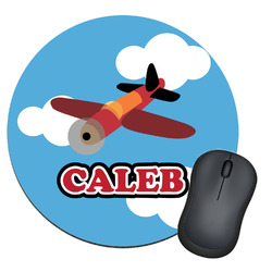 Airplane Round Mouse Pad (Personalized)
