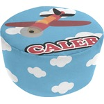 Airplane Round Pouf Ottoman (Personalized)