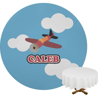 Airplane Round Tablecloth (Personalized)