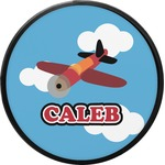 Airplane Round Trailer Hitch Cover (Personalized)