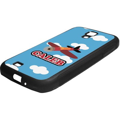 Airplane Rubber Samsung Galaxy 4 Phone Case (Personalized)