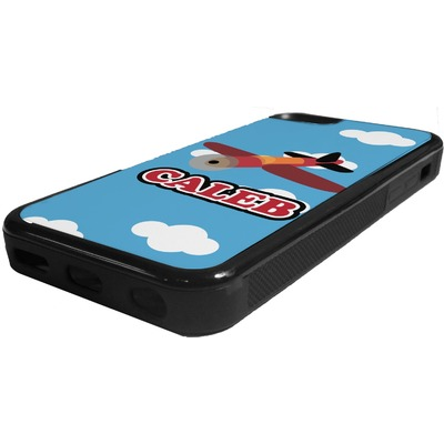 Airplane Rubber iPhone 5C Phone Case (Personalized)