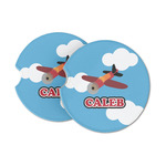 Airplane Sandstone Car Coasters (Personalized)