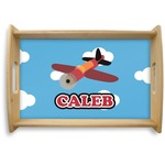 Airplane Natural Wooden Tray (Personalized)