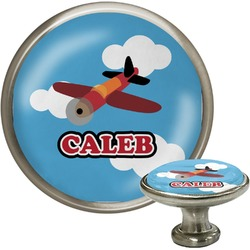 Airplane Cabinet Knob (Silver) (Personalized)