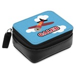 Airplane Small Leatherette Travel Pill Case (Personalized)