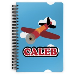 Airplane Spiral Bound Notebook (Personalized)