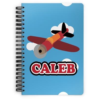 Airplane Spiral Bound Notebook (Personalized)