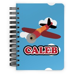 Airplane Spiral Bound Notebook - 5x7 (Personalized)
