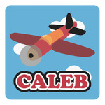 Airplane Square Decal - Custom Size (Personalized)