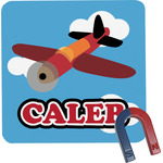 Airplane Square Fridge Magnet (Personalized)