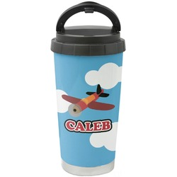 Airplane Stainless Steel Coffee Tumbler (Personalized)